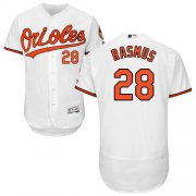 Wholesale Cheap Orioles #28 Colby Rasmus White Flexbase Authentic Collection Stitched MLB Jersey