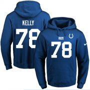 Wholesale Cheap Nike Colts #78 Ryan Kelly Royal Blue Name & Number Pullover NFL Hoodie