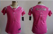 Wholesale Cheap Nike Panthers #1 Cam Newton Pink Women's Stitched NFL Elite Draft Him Shimmer Jersey