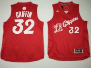 Wholesale Cheap Men's Los Angeles Clippers #32 Blake Griffin adidas Red 2016 Christmas Day Stitched NBA Swingman Jersey
