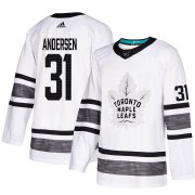 Wholesale Cheap Adidas Maple Leafs #31 Frederik Andersen White 2019 All-Star Game Parley Authentic Stitched NHL Jersey