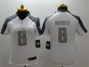 Wholesale Cheap Nike Titans #8 Marcus Mariota White Women's Stitched NFL Limited Platinum Jersey