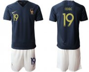 Wholesale Cheap France #19 Sidibe Home Soccer Country Jersey