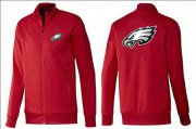 Wholesale Cheap NFL Philadelphia Eagles Team Logo Jacket Red