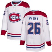 Wholesale Cheap Adidas Canadiens #26 Jeff Petry White Road Authentic Stitched NHL Jersey