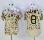 Wholesale Pirates #8 Willie Stargell Camo Flexbase Authentic Collection Stitched Baseball Jersey