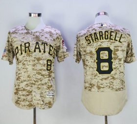 Wholesale Cheap Pirates #8 Willie Stargell Camo Flexbase Authentic Collection Stitched MLB Jersey