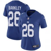 Wholesale Cheap Nike Giants #26 Saquon Barkley Royal Blue Team Color Women's Stitched NFL Vapor Untouchable Limited Jersey