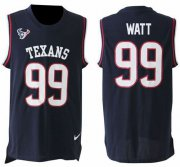 Wholesale Cheap Nike Texans #99 J.J. Watt Navy Blue Team Color Men's Stitched NFL Limited Tank Top Jersey
