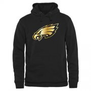 Wholesale Cheap Men's Philadelphia Eagles Pro Line Black Gold Collection Pullover Hoodie
