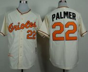 Wholesale Cheap Mitchell And Ness 1989 Orioles #22 Jim Palmer Cream Throwback Stitched MLB Jersey