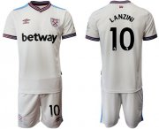 Wholesale Cheap West Ham United #10 Lanzini Away Soccer Club Jersey