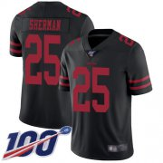 Wholesale Cheap Nike 49ers #25 Richard Sherman Black Alternate Men's Stitched NFL 100th Season Vapor Limited Jersey