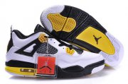 Wholesale Cheap Air Jordan 4 New Shoes Yellow/Black/White