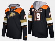 Wholesale Cheap Ducks #19 Andy Mcdonald Black Name And Number Hoodie
