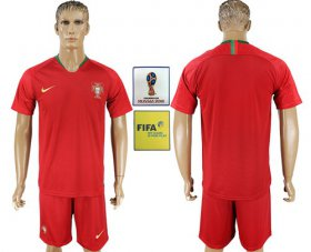 Wholesale Cheap Portugal Blank Home Soccer Country Jersey