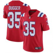 Wholesale Cheap Nike Patriots #35 Kyle Dugger Red Alternate Youth Stitched NFL Vapor Untouchable Limited Jersey