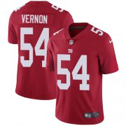 Wholesale Cheap Nike Giants #54 Olivier Vernon Red Alternate Men's Stitched NFL Vapor Untouchable Limited Jersey