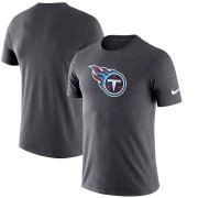 Wholesale Cheap Tennessee Titans Nike Essential Logo Dri-FIT Cotton T-Shirt Heather Charcoal