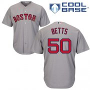 Wholesale Cheap Red Sox #50 Mookie Betts Grey Cool Base Stitched Youth MLB Jersey
