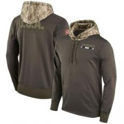 Wholesale Cheap Men's Dallas Cowboys Nike Olive Salute to Service Sideline Therma Pullover Hoodie