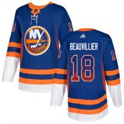 Wholesale Cheap Adidas Islanders #18 Anthony Beauvillier Royal Blue Home Authentic Drift Fashion Stitched NHL Jersey