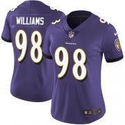 Wholesale Cheap Nike Ravens #98 Brandon Williams Purple Team Color Women's Stitched NFL Limited Vapor Untouchable Limited Jersey