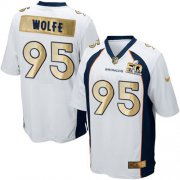 Wholesale Cheap Nike Broncos #95 Derek Wolfe White Men's Stitched NFL Game Super Bowl 50 Collection Jersey