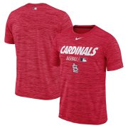Wholesale Cheap St. Louis Cardinals Nike Authentic Collection Velocity Team Issue Performance T-Shirt Red