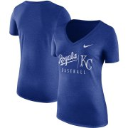 Wholesale Cheap Kansas City Royals Nike Women's Tri-Blend Practice T-Shirt Royal