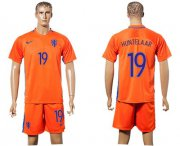 Wholesale Cheap Holland #19 Huntelaar Home Soccer Country Jersey