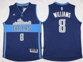 Wholesale Cheap Men\'s Dallas Mavericks #8 Deron Williams Revolution 30 Swingman The City Navy Blue Jersey