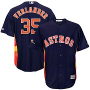 Wholesale Cheap Houston Astros #35 Justin Verlander Majestic 2019 Postseason Official Cool Base Player Jersey Navy