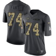 Wholesale Cheap Nike Seahawks #74 George Fant Black Men's Stitched NFL Limited 2016 Salute to Service Jersey