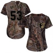 Wholesale Cheap Orioles #53 Zach Britton Camo Realtree Collection Cool Base Women's Stitched MLB Jersey