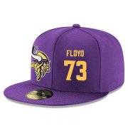 Wholesale Cheap Minnesota Vikings #73 Sharrif Floyd Snapback Cap NFL Player Purple with Gold Number Stitched Hat