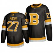 Wholesale Cheap Adidas Boston Bruins #27 John Moore Black 2019-20 Authentic Third Stitched NHL Jersey