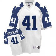Wholesale Cheap Cowboys #41 Terence Newman White Thanksgiving Stitched Throwback NFL Jersey