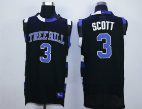 Wholesale Cheap One Tree Hill 3 Lucas Scott Black Double Stitched Jersey