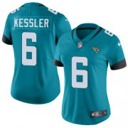 Wholesale Cheap Nike Jaguars #6 Cody Kessler Teal Green Alternate Women's Stitched NFL Vapor Untouchable Limited Jersey