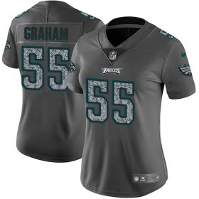 Wholesale Cheap Nike Eagles #55 Brandon Graham Gray Static Women\'s Stitched NFL Vapor Untouchable Limited Jersey