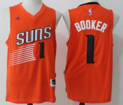 Wholesale Cheap Men's Phoenix Suns #1 Devin Booker Orange Stitched NBA adidas Revolution 30 Swingman Jersey