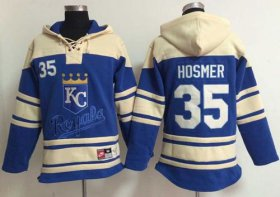 Wholesale Cheap Royals #35 Eric Hosmer Light Blue Sawyer Hooded Sweatshirt MLB Hoodie