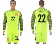 Wholesale Cheap Holland #22 Vorm Green Long Sleeves Goalkeeper Soccer Country Jersey