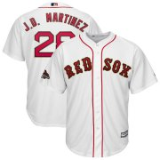 Wholesale Cheap Red Sox #28 J. D. Martinez White FlexBase Authentic 2019 Gold Program Cool Base Stitched MLB Jersey