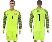 Wholesale Cheap Holland #1 Zoet Green Long Sleeves Goalkeeper Soccer Country Jersey