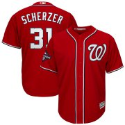 Wholesale Cheap Washington Nationals #31 Max Scherzer Majestic 2019 World Series Champions Alternate Big & Tall Cool Base Player Jersey Red