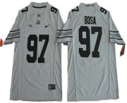 Wholesale Cheap Men's Ohio State Buckeyes #97 Joey Bosa Gridiron Gray II Limited Stitched College Football Nike NCAA Jersey