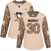Wholesale Cheap Adidas Penguins #30 Matt Murray Camo Authentic 2017 Veterans Day Women's Stitched NHL Jersey