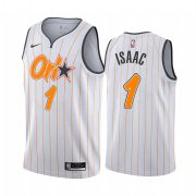 Wholesale Cheap Nike Magic #1 Jonathan Isaac White NBA Swingman 2020-21 City Edition Jersey